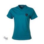 DogCoach Brand T-Shirt Petrol-Schwarz