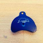 Hütepfeife blau