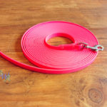 Schleppleine Biothane neon pink 9mm / 6m
