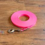 Schleppleine aus Biothane Granite Ultra Thin neon pink 8m/9mm