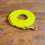 Schleppleine aus Biothane Super Flex neon gelb 5m/9mm