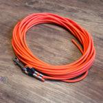 Schleppleine Biothane rund neon orange 6mm/12m